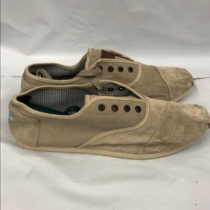 Toms canvas and leather lace up shoes size 13